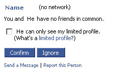 Facebook Accepting Friends
